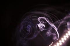 Kolorowy dym na ciemnym tle Fotografia Royalty Free