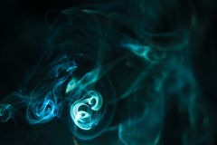 Kolorowy dym na ciemnym tle Obraz Royalty Free