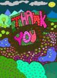 kolorowy dziękować ty Obrazy Royalty Free
