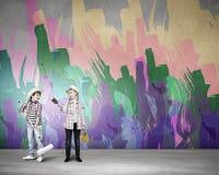 Kolorowy dzieciństwo Obrazy Royalty Free