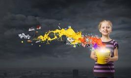 Kolorowy dzieciństwo! Zdjęcie Stock