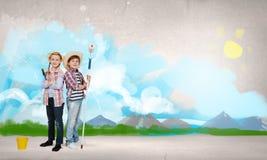 Kolorowy dzieciństwo Zdjęcia Stock