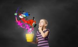 Kolorowy dzieciństwo! Zdjęcia Royalty Free