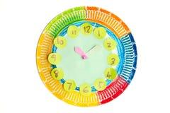 Kolorowy dziecka handwork zegar zdjęcia stock