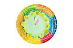 Kolorowy dziecka handwork zegar obrazy royalty free
