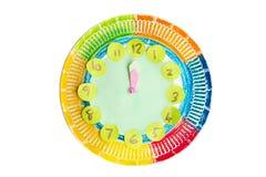 Kolorowy dziecka handwork zegar obraz stock