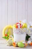 kolorowy Easter jajek królik Zdjęcie Stock