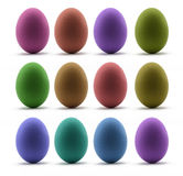 kolorowy Easter jajek rząd Zdjęcia Royalty Free