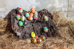 kolorowy Easter jajka set Fotografia Royalty Free