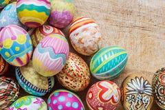 kolorowy Easter jajka set Zdjęcie Royalty Free