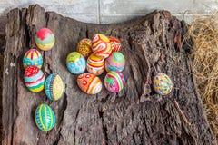 kolorowy Easter jajka set Zdjęcia Royalty Free