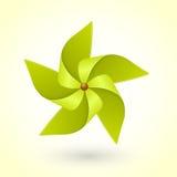 Kolorowy eco zieleni pinwheel Obrazy Stock