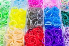 Kolorowy elastyczni tęczy krosienka zespoły Zdjęcia Stock