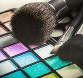 kolorowy eyeshadow robi paletom kolorowy Obrazy Royalty Free