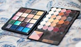 kolorowy eyeshadow robi paletom kolorowy Zdjęcie Stock