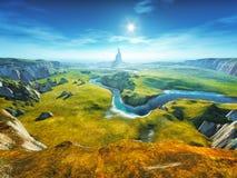 Kolorowy fantazja krajobraz Obrazy Stock