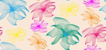 Kolorowy fantazja kwiatów wzór Jaskrawi kolory royalty ilustracja