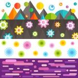 Kolorowy fantazja sztandar ilustracja wektor