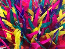 Kolorowy farbujący piórko, tło i tekstura, zdjęcia stock
