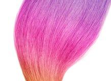 Kolorowy farbujący włosy na białym tle, odgórny widok zdjęcia stock