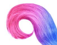 Kolorowy farbujący włosy na białym tle, odgórny widok obraz stock