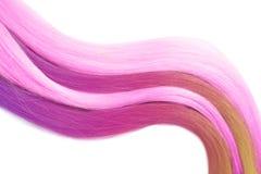 Kolorowy farbujący włosy na białym tle, odgórny widok obrazy royalty free