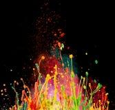 Kolorowy farby chełbotanie zdjęcie stock
