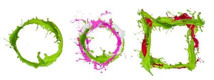 Kolorowy farby chełbotanie Fotografia Royalty Free