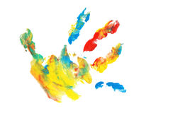 kolorowy fingerpaint Zdjęcia Royalty Free