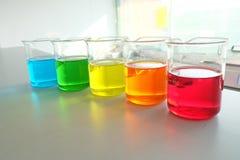 Kolorowy fluid w szklanym artykuły zdjęcie royalty free