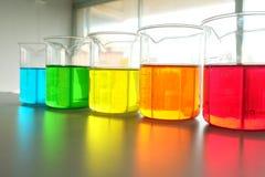 Kolorowy fluid w szklanym artykuły zdjęcia royalty free