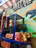 Kolorowy Forklift i sztuka Zdjęcie Royalty Free