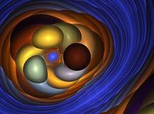 kolorowy fractal Obrazy Royalty Free