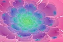 Kolorowy fractal kwiat z połyskiem Fotografia Royalty Free