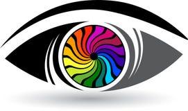 Kolorowy gałka oczna logo ilustracji