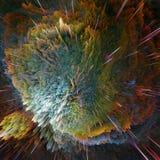 Kolorowy galaxy chmurnieje i duża uderzenie abstrakta gwiazdy tekstura fotografia stock