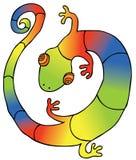 Kolorowy Gekon royalty ilustracja