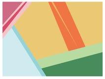 Kolorowy geometryczny kształta tło Fotografia Stock