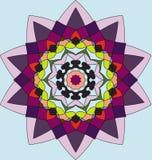 Kolorowy geometryczny kwiat Obrazy Stock