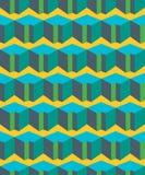 Kolorowy geometryczny płaski bezszwowy wzór Zdjęcie Royalty Free