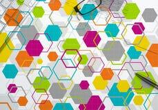 Kolorowy geometryczny tło Obrazy Royalty Free