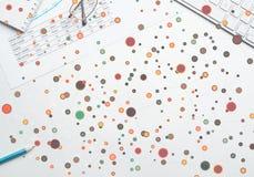 Kolorowy geometryczny tło Zdjęcie Stock