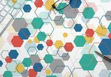 Kolorowy geometryczny tło Obrazy Stock