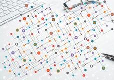 Kolorowy geometryczny tło Zdjęcie Royalty Free