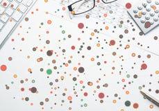 Kolorowy geometryczny tło Fotografia Royalty Free