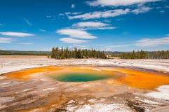 Kolorowy geotermiczny basen fotografia royalty free