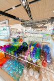 Kolorowy glassware w Siam Paragon centrum handlowym, Bangkok Zdjęcie Royalty Free