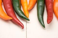 Kolorowy gorący chili Obrazy Stock