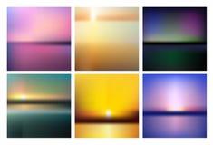 Kolorowy gradientowy siatki tło w jaskrawej tęczy barwi Abstrakt zamazujący gładki wizerunek Łatwej editable miękkiej części barw Obrazy Royalty Free