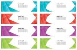 Kolorowy gradientowy sztandar Zdjęcia Royalty Free